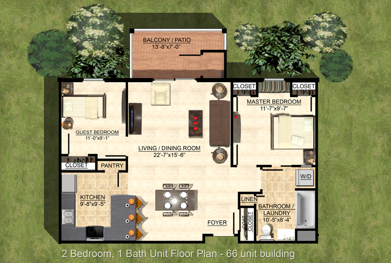 Hemlock floor plan layout for Legends at Whitney Town Center